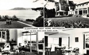 Vintage Real Photo Multi View Postcard, Glenthorne Rest Home Weymouth Dorset 14W