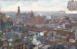 TORONTO, Ontario, Canada, 1900-1910s; Toronto From St. James