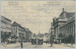 79902 - Polen POLAND - Ansichtskarten  VINTAGE POSTCARD - WARSAW  1917 Tram