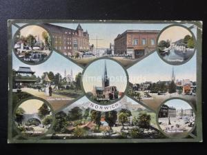Norfolk NORWICH 9 Image Multiview c1913 by Jackson & Son 78794