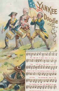 Scout Song, Yankee Doodle, music and lyrics, soldier musicians, 1900-10s