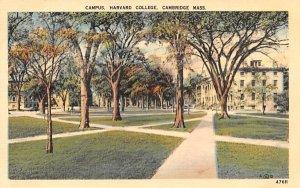 Campus Cambridge, Massachusetts Postcard