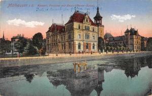 France Mulhausen Kaiserl, Postamt mit Rhein-Rhone-Kanal