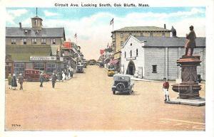 Oak Bluffs MA Circuit Ave. Magnolia Restaurant Old Cars Postcard