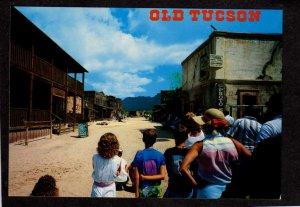 AZ Old Tucson Gunfight Arizona Cowboys Movie Town Postcard