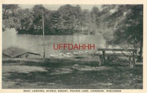 BOAT LANDING, STANCL RESORT, PRAIRIE LAKE, CAMERON, WI