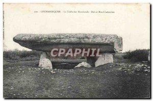 Locmariaquer Old Postcard Table merchants Dol ar March adourien