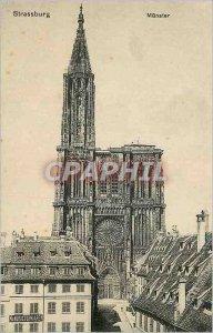 Old Postcard Strassburg Munster