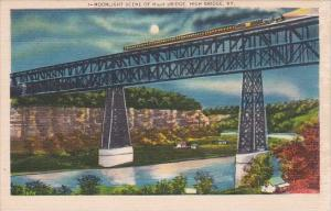 Moonlight Scene Of High Bridge Kentucky