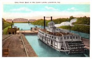 kentucky  Louisville  Canal Locks, Ohio River Boat paddlewheeler