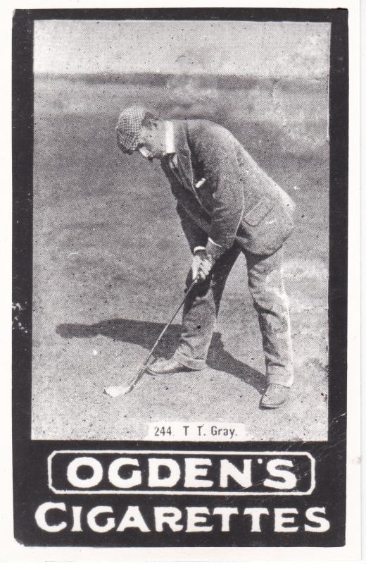 Post Card  Advertising with Golf theme  Ogden's Cigarettes  244