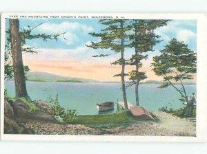 W-border LAKE SCENE Wolfeboro - Near Laconia New Hampshire NH AE4772