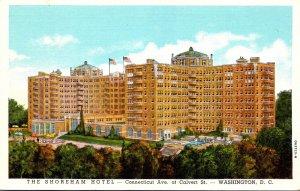 Washington D C The Shoreham Hotel Connectcicut Avenue At Calvert Street Curteich