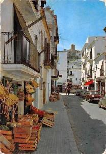 Spain Ibiza Baleares, Ciudad Calle Tipica, Typical Street Market Street Cars