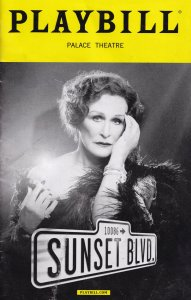 Sunset Boulevard Musical Palace Theatre Programme Playbill