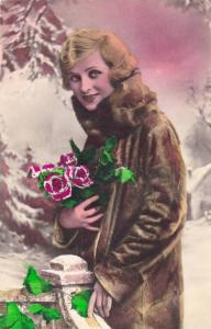 RP; Female portrait , Woman in a fur coat , 00-10s