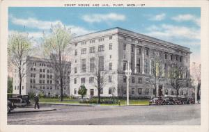 FLINT, Michigan, 1930-1940's; Court House And Jail, Classic Cars