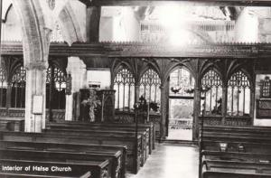 Halse Church Woodbridge Interior Stunning Suffolk Real Photo Postcard