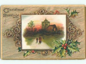 Divided-Back CHRISTMAS SCENE Great Postcard W8951
