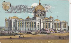 State Capitol Building & State Seal, Little Rock, Arkansas 1910
