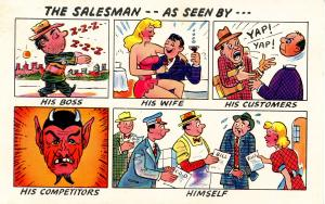 Humor - The Salesman, as seen by ______