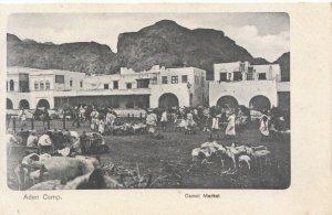Yemen Postcard - Aden Camp - Camel Market - Ref 1619A