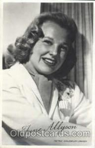 June Allyson, Actress, Movie Star, Postcard Post Card Actor Actress, Movie St...