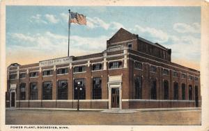 Rochester Minnesota~Power Plant~American Flag on Roof~1920s Postcard