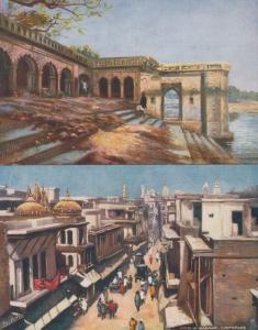 Cawnpore Massacre Chat Bazaar 2x Tuck Old Oilette Postcard s