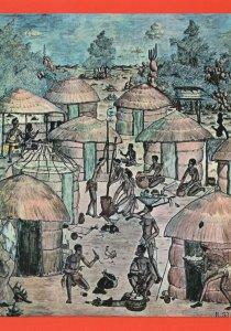Ranford Sililo Mural Livingstone Museum Zambia Postcard