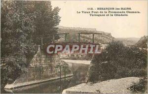 Old Postcard Besancon les Bains Old Bridge Promenade Chamar Tarragnoz and the...