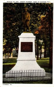 Pennsylvania Warren General Joseph Warren Statue Hero Of Bunker Hill
