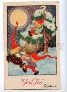 245450 CHRISTMAS X-mas GNOME Dancing MOON Vintage PC