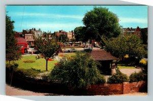 Mitcham UK-United Kingdom, Fair Green, Chrome Postcard