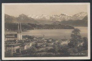 Switzerland Postcard - Luzern Und Die Alpen     T6821