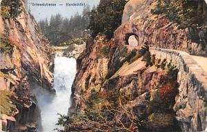 Switzerland Old Vintage Antique Post Card Grimselstrasse Handeckfall 1928