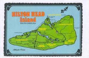 Map Of Hilton Head Island, South Carolina, 1950-1970s
