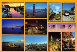 Postcard 1994 San Francisco Multi View, California, USA J85