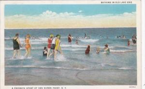 New York Van Buren Bathing In Old Lake Erie 1935 Curteich