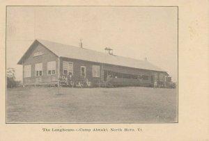 NORTH HERO , Vermont, 1900-10s ; Camp Abnaki ; The Long House