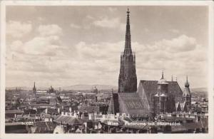 Austria Vienna Panorama mit Stefansdom Real Photo