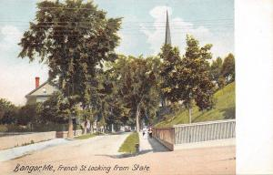 Bangor ME~French St~Looking From State (Grassy Area Before Bldgs) 1906 Postcard