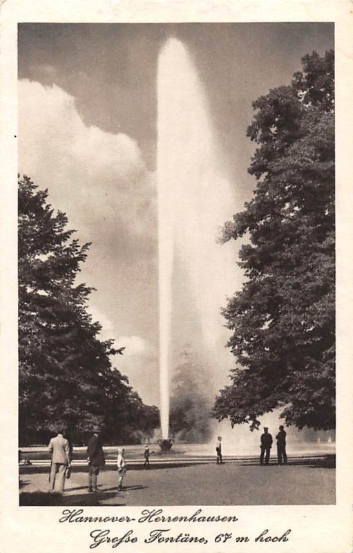 Fontane Brunnen.Hannover Herrenhausen Fontane Brunnen Fountain Hippostcard