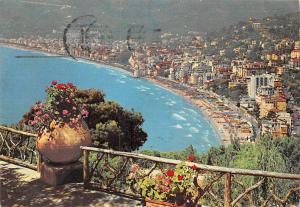 Italy Riviera dei Fiori Alassio Panorama General view Beach