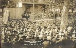 Fort Oglethorpe Camp Greenleaf WWI Selling Liberty Bonds Real Photo Postcard