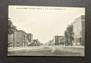 Mint Vintage Queen Street N and SRR Kingston NC Picture Postcard