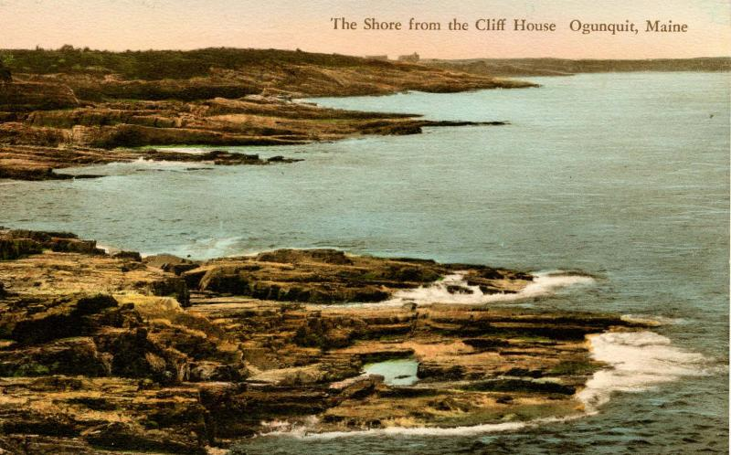 ME - Ogunquit. Shore from the Cliff House