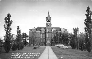 Mitchell South Dakota~Wesleyan University~College Hall Dakota~1940s Car RPPC