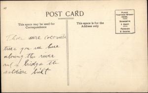 Camp Overton PI Philippine Islands Nonucan River c1910 Postcard