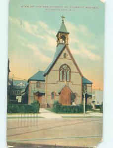 Chipped Divided-Back CHURCH SCENE Atlantic City New Jersey NJ L5984